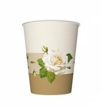 Крышка для одноразовых стаканов Rioba с носиком d 90мм белая, 100шт/уп