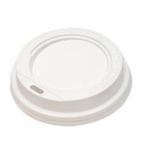 Крышка для одноразовых стаканов без носика d 62мм белая, 100шт/уп