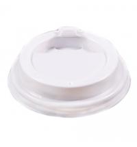 Крышка для одноразовых стаканов Артпласт с носиком d 80мм белая, 100шт/уп