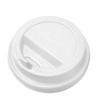 Крышка для одноразовых стаканов Артпласт с носиком d 90мм белая, 100шт/уп