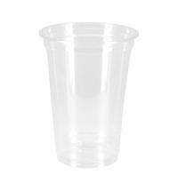 Стакан одноразовый Стиролпласт 400мл d 95мм, пластиковый прозрачный, 50шт/уп