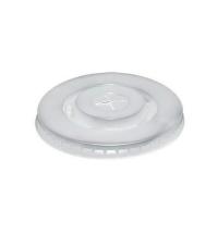 Крышка для одноразовых стаканов Huhtamaki без носика d 80мм матовая, 100шт/уп
