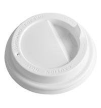 Крышка для одноразовых стаканов Протэк с носиком d 73мм белая, 100шт/уп