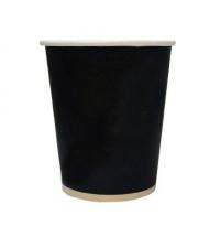 Стакан одноразовый Huhtamaki 300мл бумажный однослойный черный, 50шт/уп