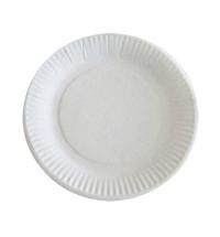 Тарелка одноразовая картонная белая d 17см, 100шт/уп