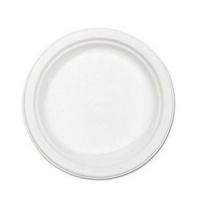 Тарелка одноразовая Мистерия белая d 16.7см, 100шт/уп