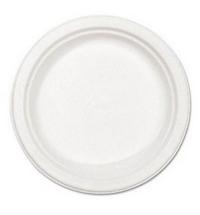 Тарелка одноразовая Мистерия белая d 20.5cм, 100шт/уп