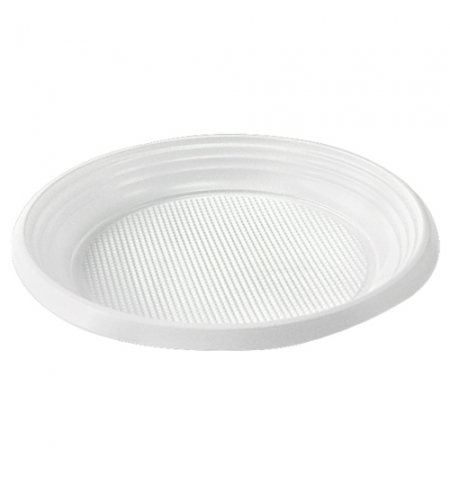 фото: Тарелка одноразовая Артпласт Идеал белая d 17см, 100шт/уп