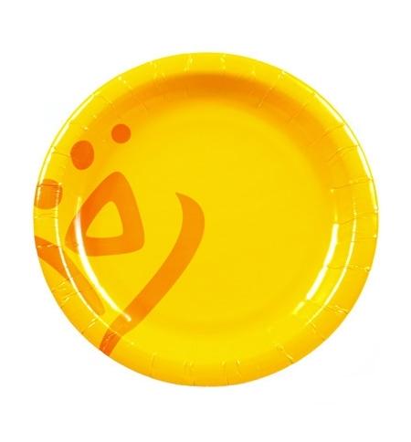 фото: Тарелка одноразовая Huhtamaki Whizz d 23см желтая, 50шт/уп