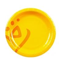 Тарелка одноразовая Huhtamaki Whizz d 18см желтая, 50шт/уп