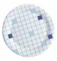 Тарелка одноразовая Huhtamaki d 23см клетка, 50шт/уп