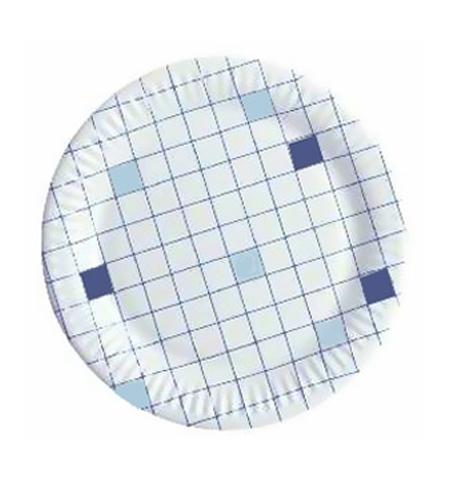 фото: Тарелка одноразовая Huhtamaki d 23см клетка, 50шт/уп