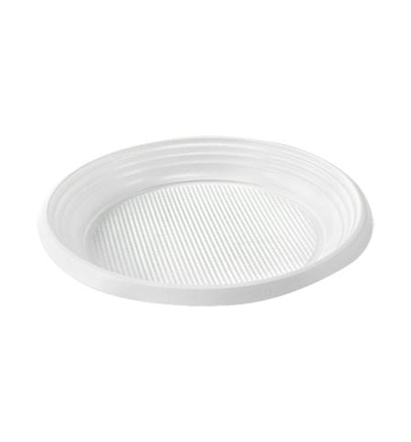 фото: Тарелка одноразовая Эконом белая d 20.5cм, 100шт/уп