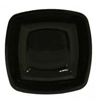 Тарелка одноразовая Horeca черная 23х23см, 6шт/уп