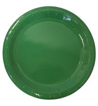 Тарелка одноразовая Horeca зеленая d 23см, 50шт/уп