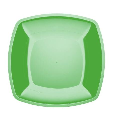 фото: Тарелка одноразовая Horeca зеленая 23х23см, 6шт/уп