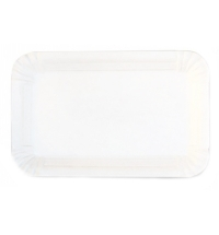 Тарелка одноразовая картонная белая, втор. сырье 13х20см, 1000шт/уп