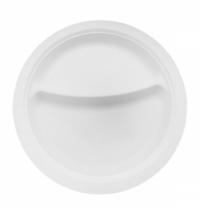 Тарелка одноразовая Horeca белая 2х-секционная, d 21см, 50шт/уп