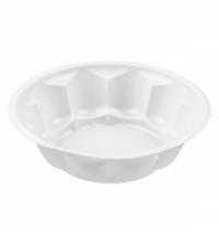 Тарелка одноразовая Ромашка белая 250мл, d 11.5см, 100шт/уп