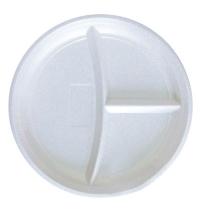 Тарелка одноразовая Комус d 21см белая, 3 секции, 100шт/уп