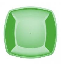 Тарелка одноразовая Horeca зеленая 18х18см, 6шт/уп