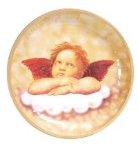 Тарелка одноразовая Tarrington House Ангел 25см, новогодняя