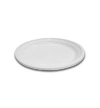 Тарелка одноразовая Интеко белая d 16.5см, 50шт/уп