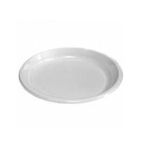 Тарелка одноразовая Интеко белая d 22см, 50шт/уп