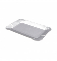 Тарелка одноразовая картонная фольга 13х20см, 100шт/уп