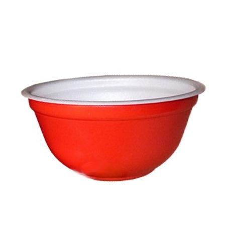 фото: Миска одноразовая Протэк 500мл красная, 480шт/уп