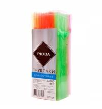 Трубочки для коктейлей Rioba цветные с изгибом, d 0.5см, 21см, 225шт/уп