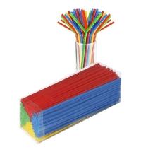 Трубочки для коктейлей Веселая Затея цветные с изгибом, d 0.5см, 24см, 250шт/уп