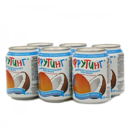 фото: Сокосодержащий напиток Fruiting Манго-кокос без газа, 238мл х 6шт, ж/б
