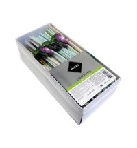 Трубочки для коктейлей Rioba Фрукты полосатые с изгибом, d 0.5см, 24см, 1000шт/уп