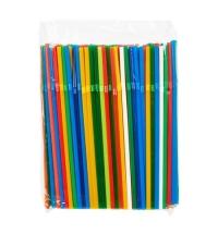 Трубочки для коктейлей Артпласт цветные с изгибом, d 0.5см, 21см, 250шт/уп
