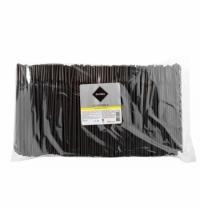 Трубочки для коктейлей Rioba черные с изгибом, d 0.5см, 24см, 1000шт/уп