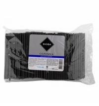 Трубочки для коктейлей Rioba черные без изгиба, d 0.5см, 13см, 500шт/уп