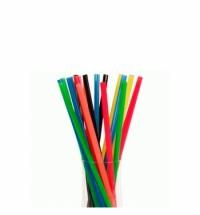 Трубочки для коктейлей Юнипластик цветные без изгиба, d 0.8см, 24см, 500шт/уп