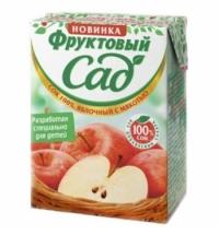 Сок Фруктовый Сад яблоко с мякотью 200мл х 10шт