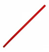 Трубочки для коктейлей Артпласт красная без изгиба, d 0.8мм, 24см, 500шт/уп