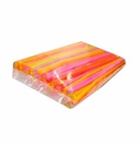Трубочки для коктейлей Флюор цветные с изгибом, d 0.5см, 21см, 250шт/уп