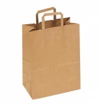 Пакет бумажный Артпласт с плоскими ручками 32х20х37см, крафт, 70г/м2