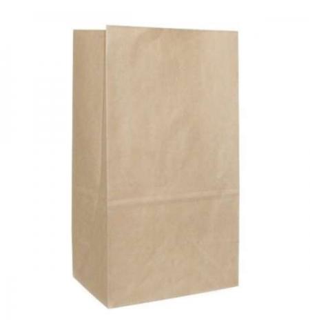 фото: Пакет бумажный на вынос 12х8х24см, крафт70, 100 шт/уп