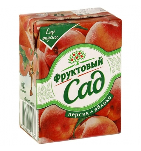 фото: Сок Фруктовый Сад персик и яблоко 200мл х 10шт
