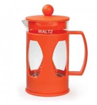 Чайник заварочный френч-пресс Waltz Мозаика ассорти 600мл, стекло/пластик