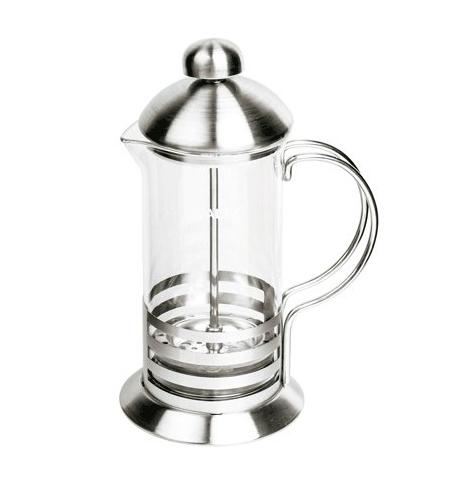 фото: Чайник заварочный френч-пресс Waltz Элит 1л с пластиковой ложкой, стекло/нержавеющая сталь