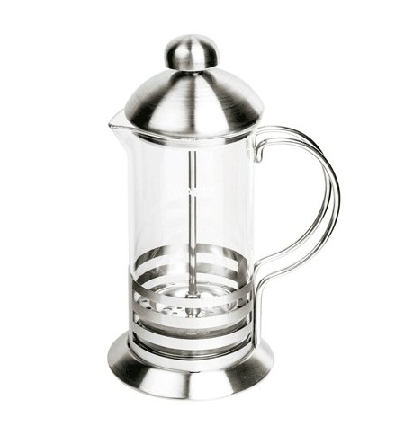 фото: Чайник заварочный френч-пресс Waltz Элит 600мл с пластиковой ложкой, стекло/нержавеющая сталь