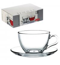 Набор чайный Pasabahce Basic на 6 персон (6 кружек 215мл + 6 блюдец)
