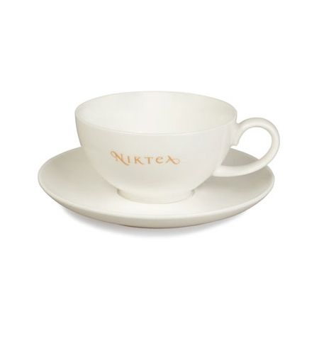 фото: Чайная пара Niktea 150мл фарфор, цвет слоновая кость