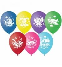 Воздушные шары Поиск детская тематика 30см, 50шт